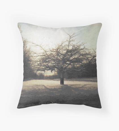 December Tree At The End Of The World Throw Pillow