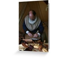 Medieval Leather Worker Greeting Card