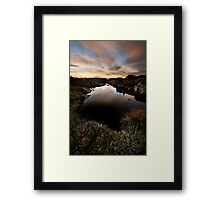 Tarn Dawn Framed Print
