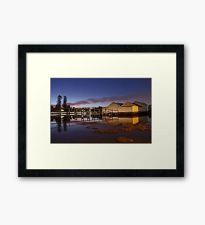 Mosman Bay Boatsheds - Western Australia  Framed Print