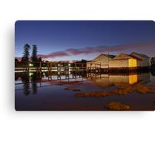 Mosman Bay Boatsheds - Western Australia  Canvas Print