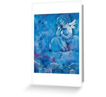 Angel of first snow Greeting Card