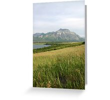 View from Middle Waterton Lake Greeting Card