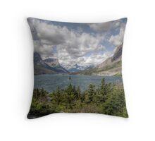 A Glacier View Throw Pillow
