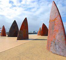 Cunningham Pier Shark Fins Geelong by AusDisciple