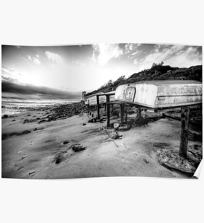 Old But Reliable (Monochrome) - Long Reef, Sydney- The HDR Experience Poster