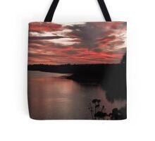 Sundown at the Lakes Tote Bag