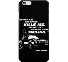 Paul Walker - The Speed iPhone Case/Skin