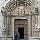 Main entrance to the Palazzo dei Priori, Centro Storico, Perugia, Italy by Philip Mitchell
