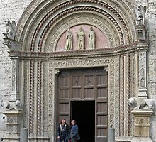 Main entrance to the Palazzo dei Priori, Centro Storico, Perugia, Italy by Philip Mitchell