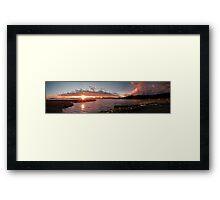 Lowry Sunset strip Framed Print
