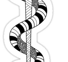 Rod of Asclepius Symbol Sticker