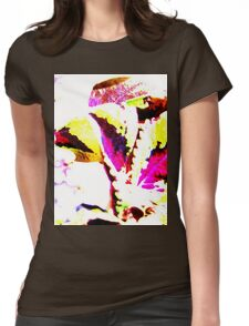 Peacock Foliage Womens Fitted T-Shirt