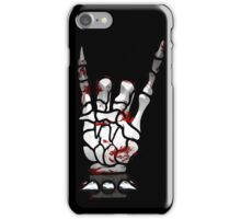 HEAVY METAL HAND SIGN - bloody iPhone Case/Skin