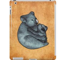 Koalas - a cute hand drawn illustration of a mother koala and her baby iPad Case/Skin