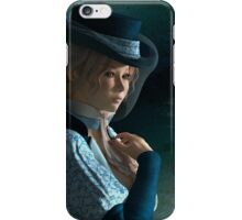 Victorian lady and a love letter iPhone Case/Skin