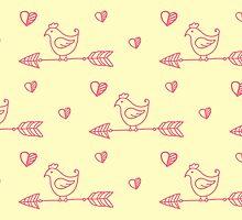 Arrow bird pattern love handpainted by julkapulka