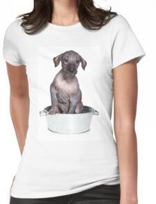 Hairless Dog puppy Womens Fitted T-Shirt