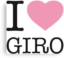 I LOVE GIRO Canvas Print