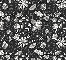 Cute floral seamless vector pattern by julkapulka