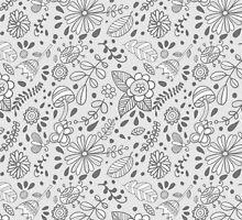 Cute floral seamless vector pattern by julkapulka