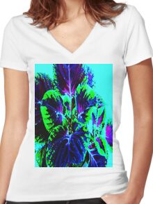 Foliated Women's Fitted V-Neck T-Shirt