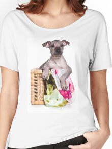 Hairless Dog puppy Women's Relaxed Fit T-Shirt