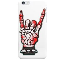 HEAVY METAL HAND SIGN - blood spatter iPhone Case/Skin