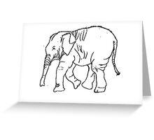 Elephant-Animal-Zoo Animal-T-Shirt Greeting Card