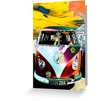 Happy hippy van Greeting Card