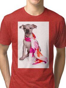 Hairless Dog puppy Tri-blend T-Shirt