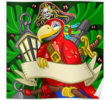 Adventure Time - Boatswain Corsair Red Parrot Poster