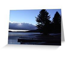 Daybreak On The Jetty Greeting Card