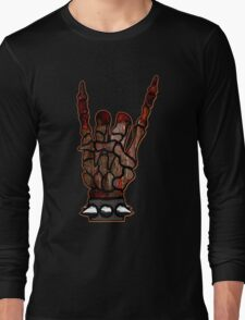 HEAVY METAL HAND SIGN - if you want blood, you got it Long Sleeve T-Shirt