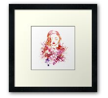 Female Vector Print Framed Print