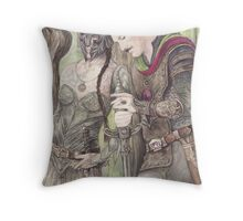 Torgil and Dulcamara Warrior Throw Pillow