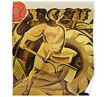 bread for us cccp sssr soviet union political propaganda revolution poster sculpture Poster
