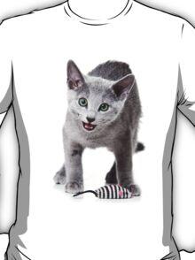 silver kitten meows T-Shirt