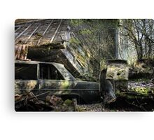 16.5.2015: Scrap Cars and Abandoned House Canvas Print