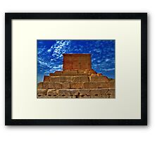 The Tomb of Cyrus The Great - Pasargadae Framed Print