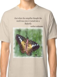Butterfly with Breast Cancer Ribbon Tee Classic T-Shirt