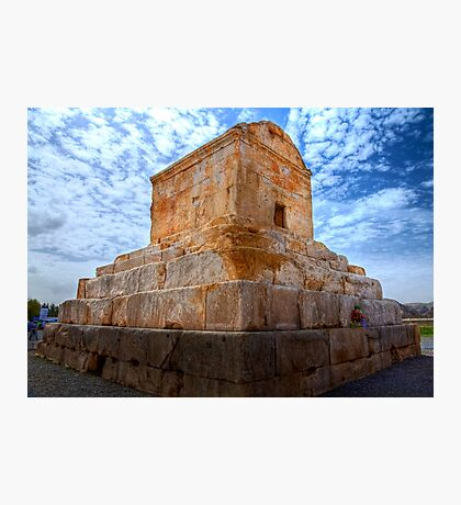 The Tomb of Cyrus The Great - Iran Photographic Print