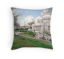 Puerto Rico, capital view Throw Pillow