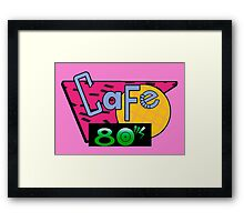 Cafe 80's Framed Print