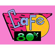 Cafe 80's Photographic Print