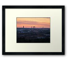 Sunset over the Gothenburg Harbour Framed Print