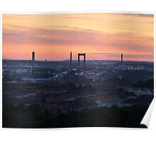 Sunset over the Gothenburg Harbour Poster