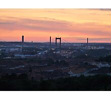 Sunset over the Gothenburg Harbour Photographic Print
