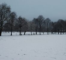 Pilrig Park in the snow by justbmac