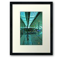 Dubai International Airport Terminal Framed Print